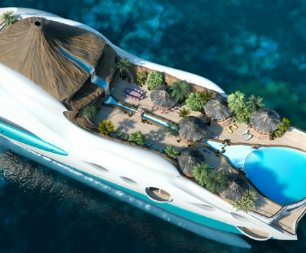 Pływająca rajska wyspa