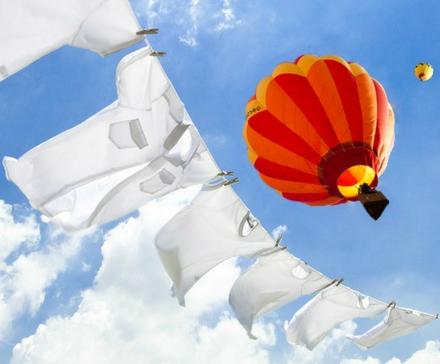 Jak pranie zainspirowało pierwszy lot balonem...