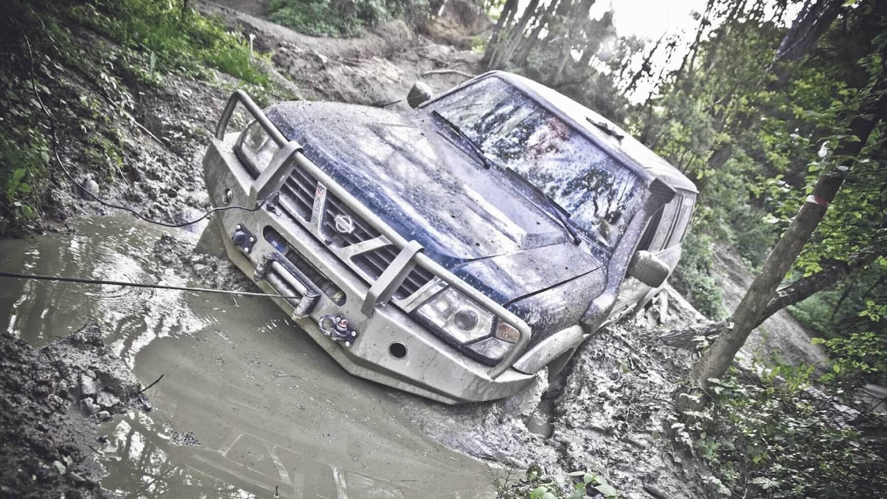 Jazda off-road w trudnym terenie