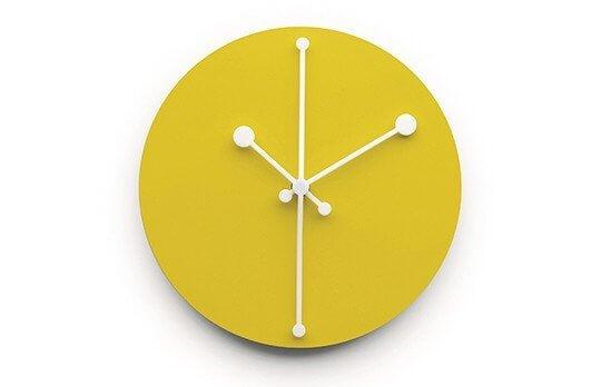 Zegar ścienny Dotty Alessi żółty