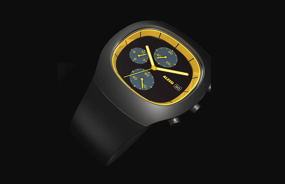 Męski zegarek z chronometrem z Alessi