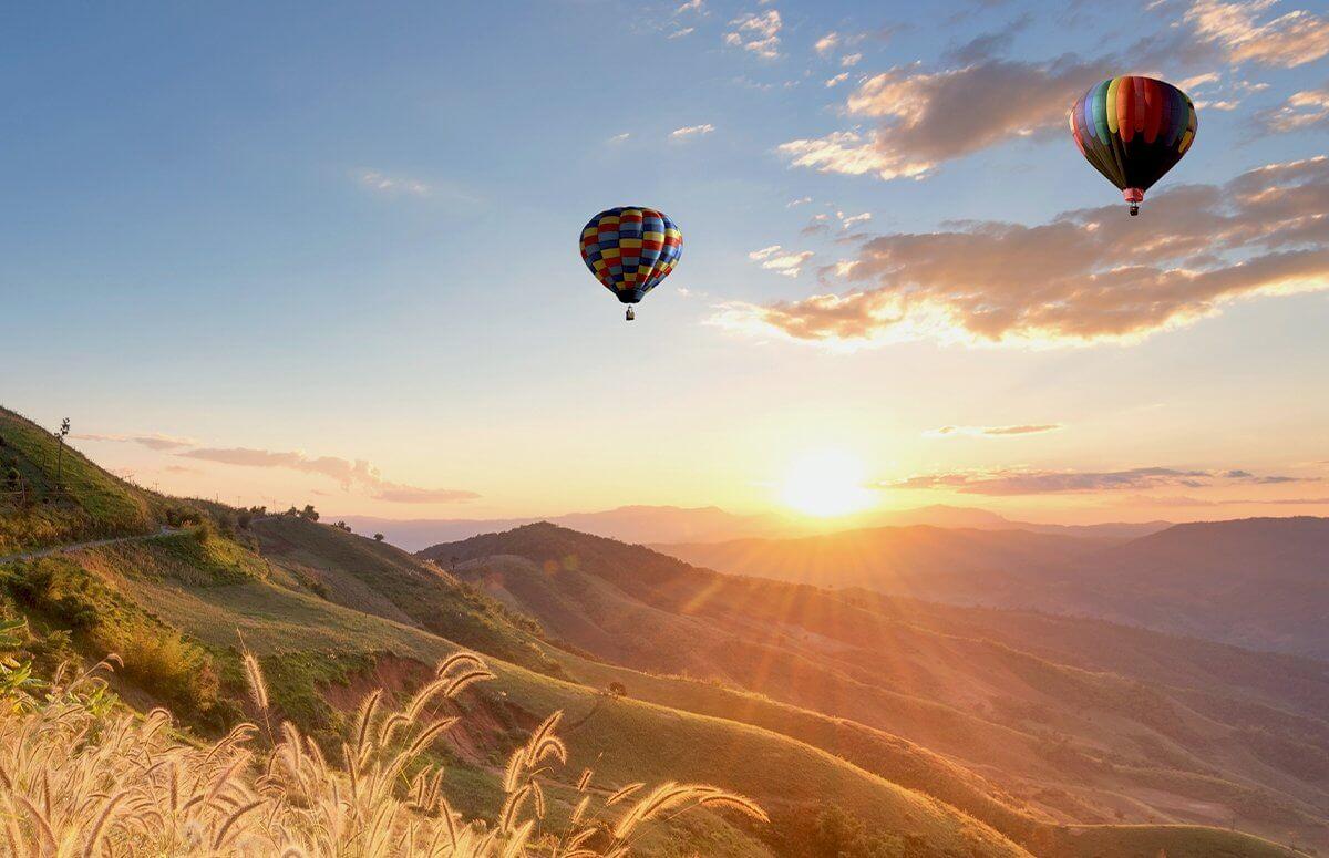 Lot zaręczynowy balonem w Tatrac