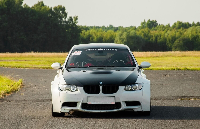 4 km na siedzeniu pasażera w BMW M3