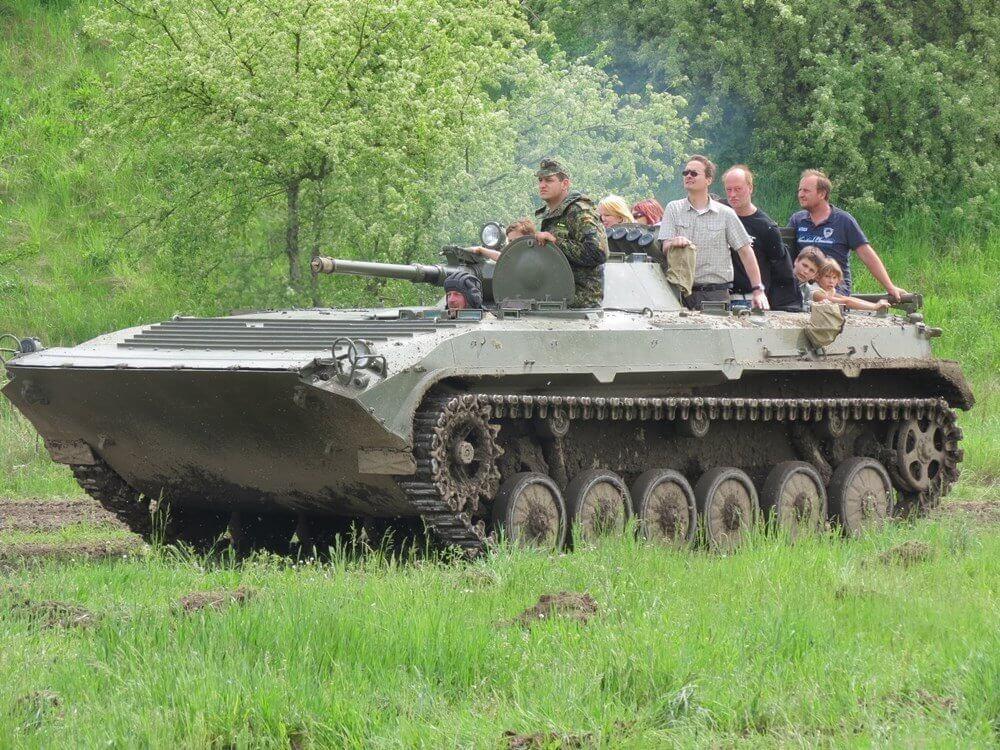 Przejazd bojowym wozem piechoty