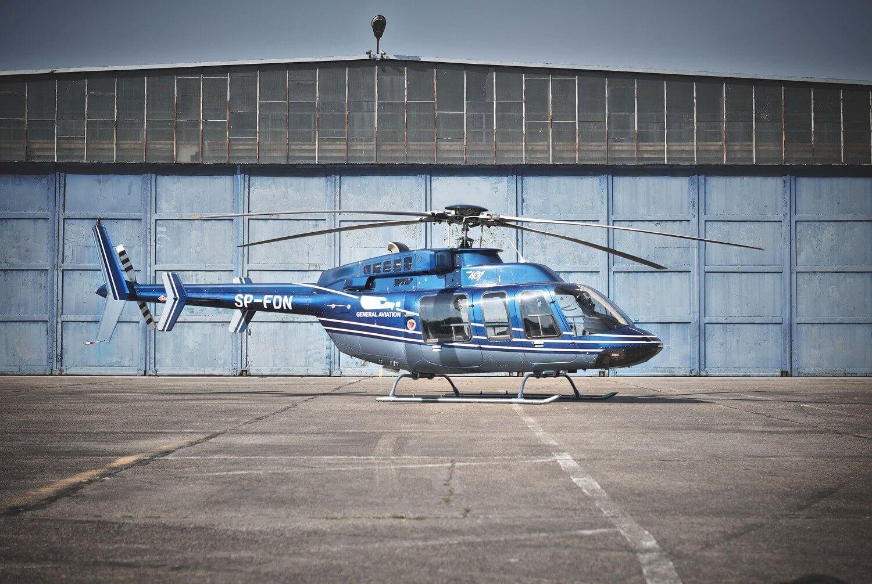 Lot nad Warszawą - helikopter