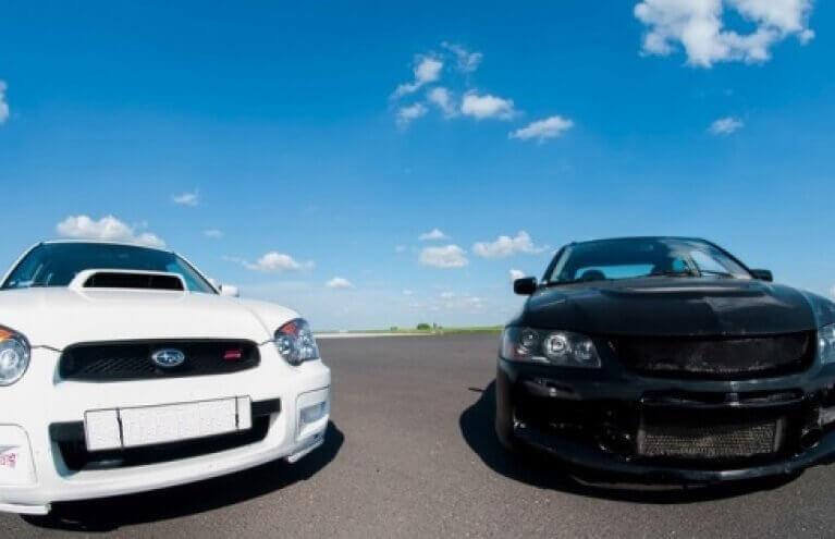 Jazda na torze w Subaru Impreza - Ułęż
