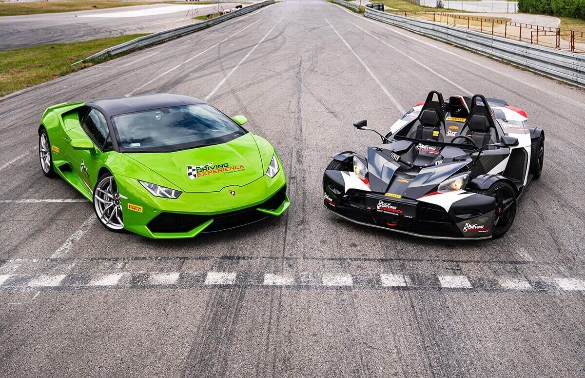 Pojedynek KTM X-Bow vs Lamborghini Huracan