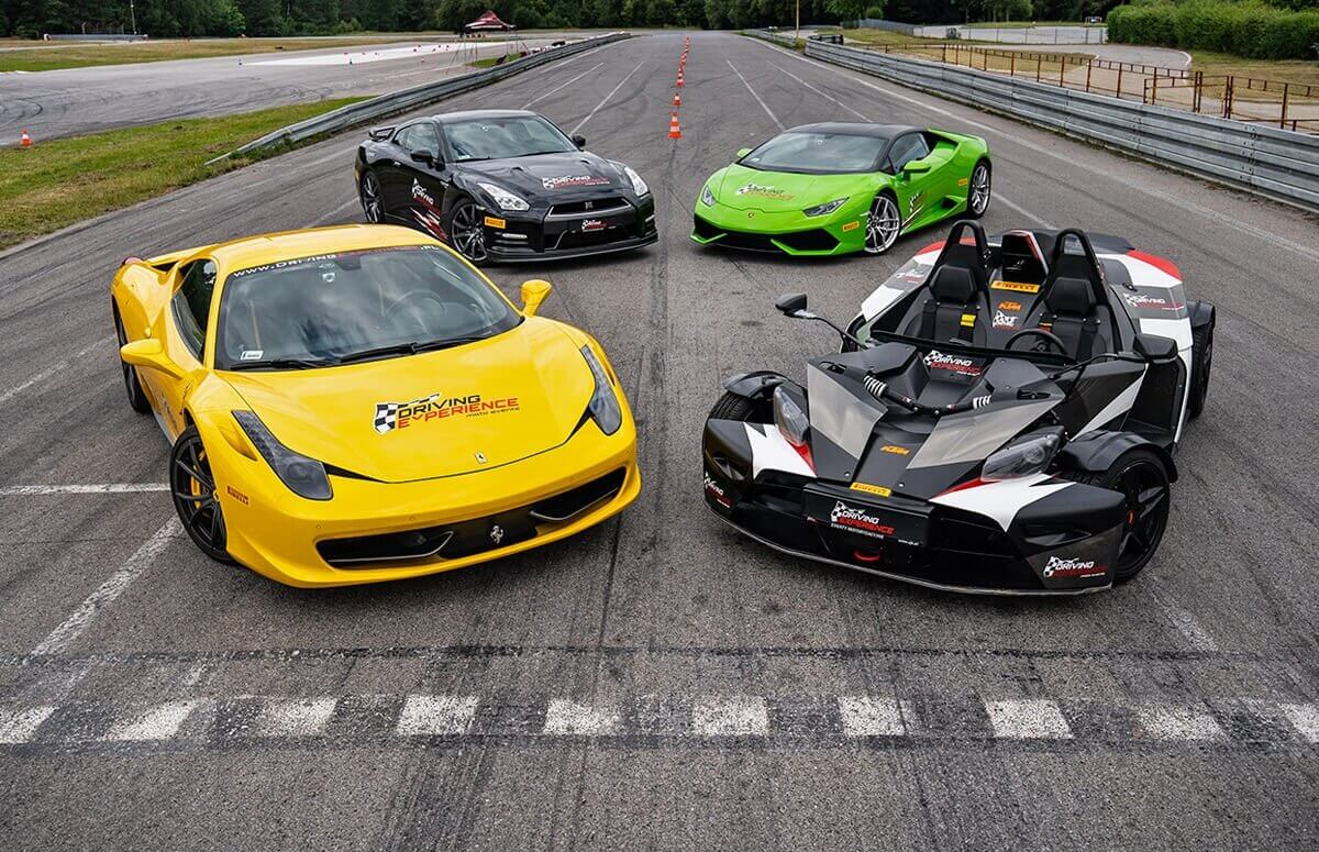Pojedynek na torze - Ferrari + Lamborghini + GTR + KTM X-Bow