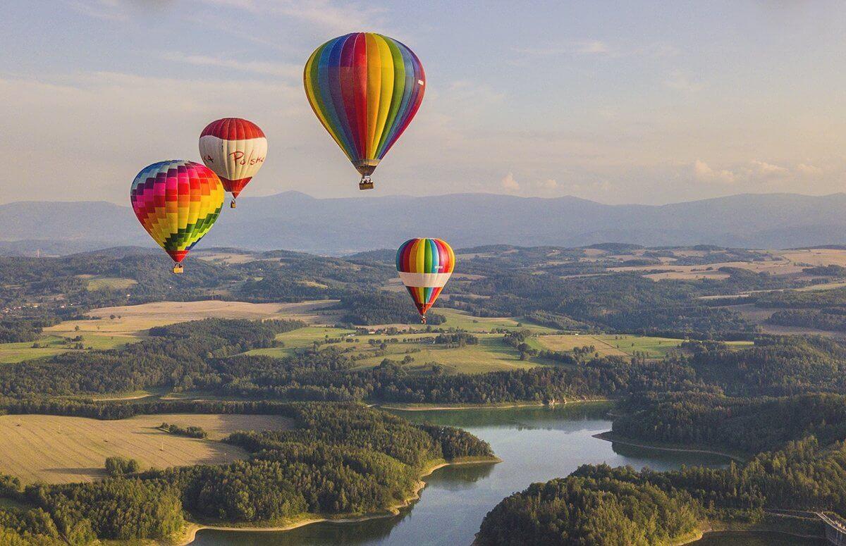 Widokowy lot balonem dla Dwoja