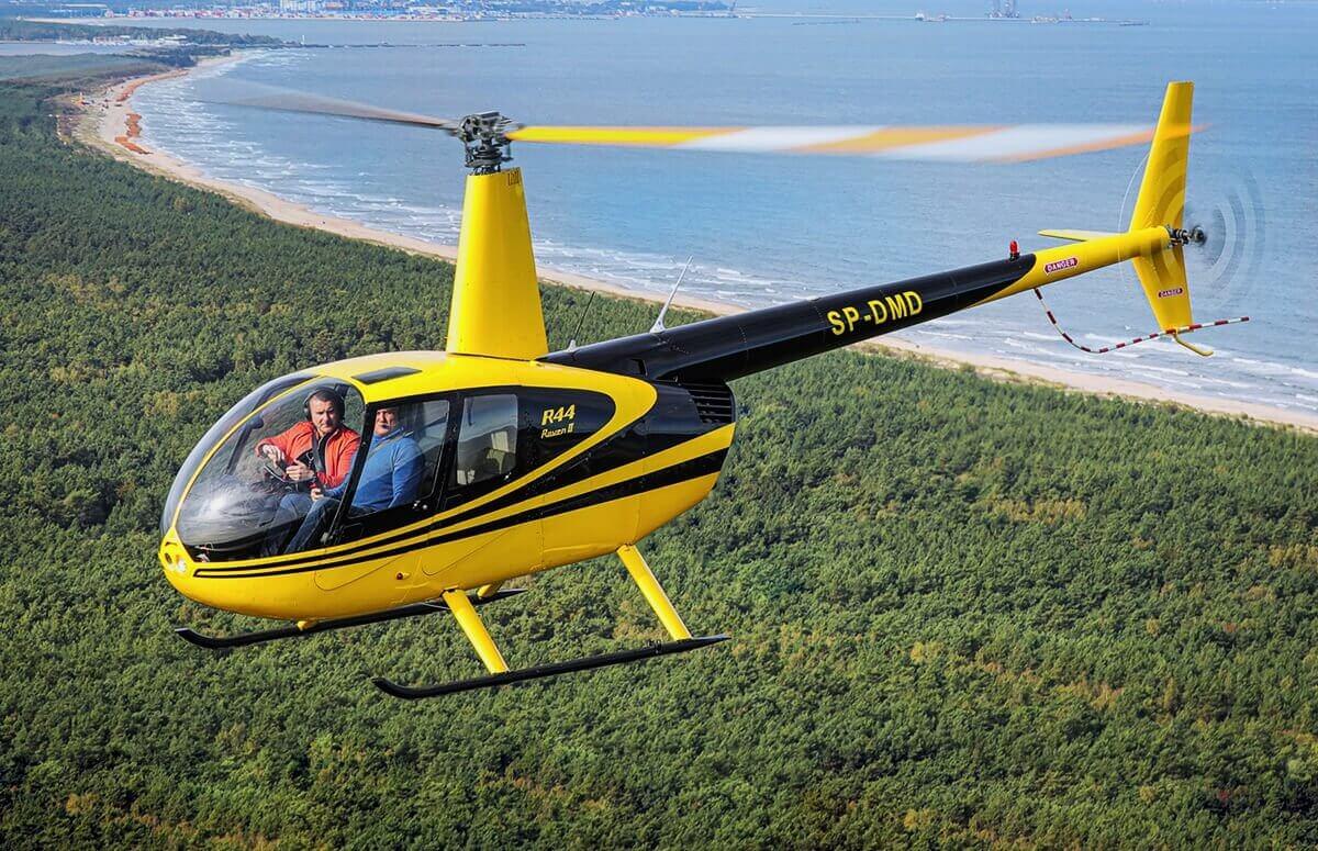Lot helikopterem nad Zatoką Gdańską