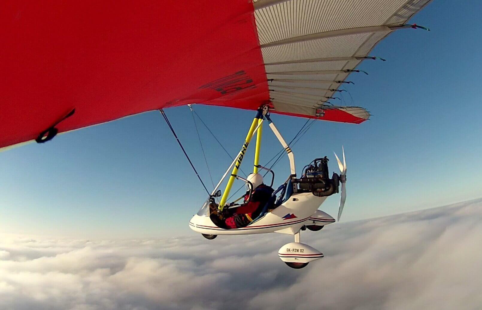 Motolotnia - lot nad Warszawą z filmowaniem lotu