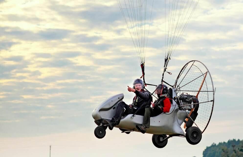 Lot w okolicach Poznania - motoparalotnia