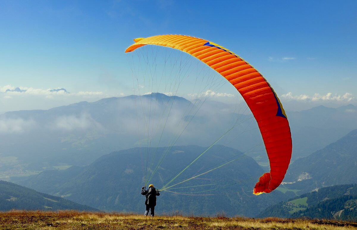 Żywiec - Lot motoparalotnią nad Beskidem Śląskim