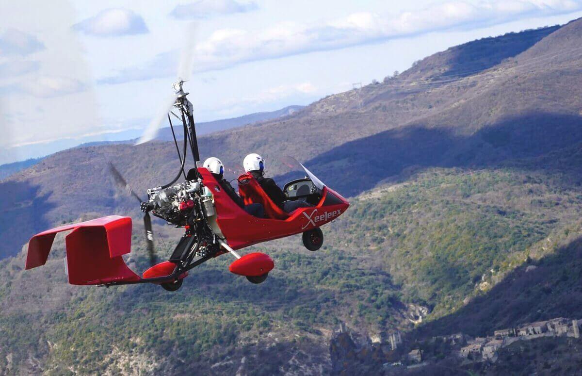 Lot pilotażowy wiatrakowcem - Kłodzko i okolice