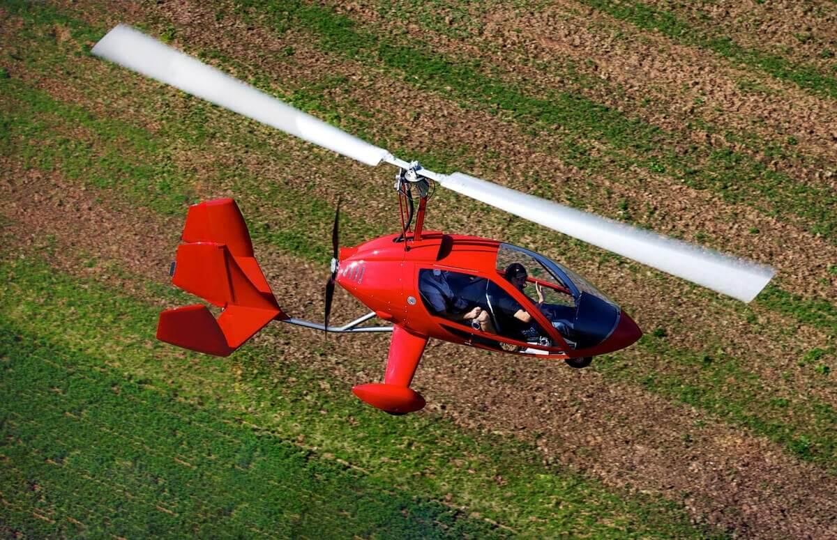 Wiatrakowiec - lot pilotażowy