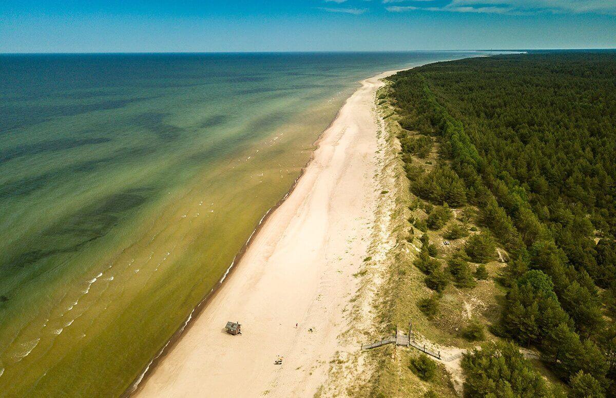 Lot widokowy nad zachodnim wybrzeżem Bałtyku