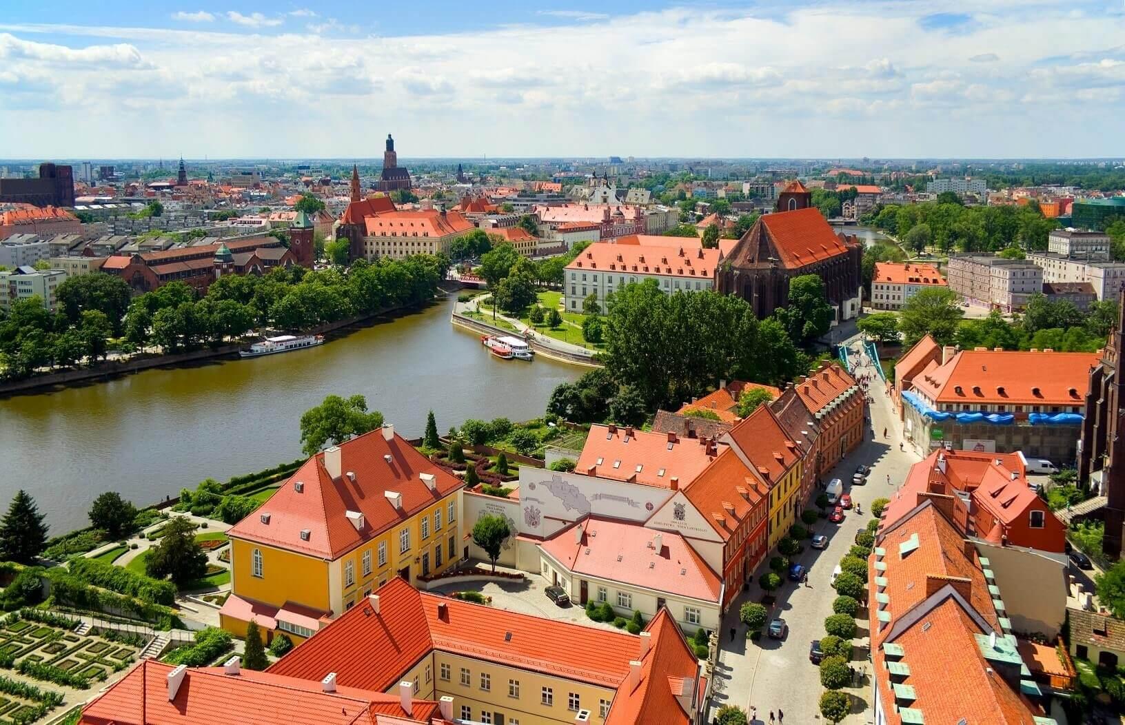 Zwiedzaj Wroclaw z lotu ptaka