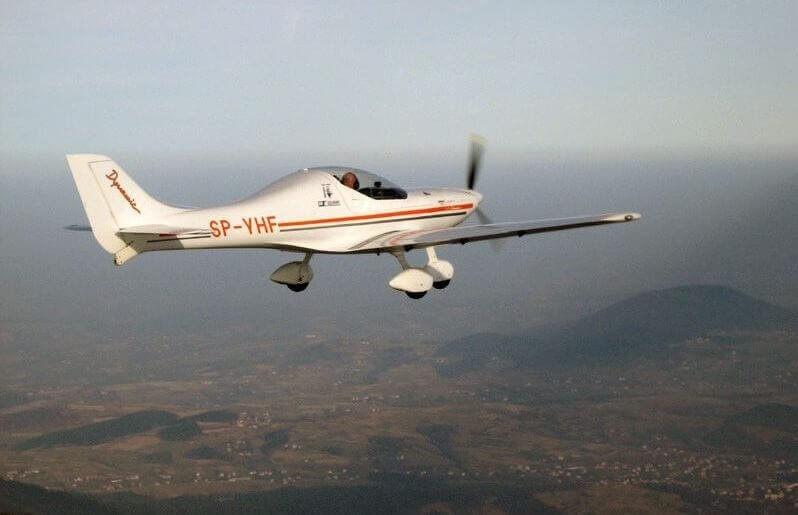 Lot samolotem z widokiem na Śląsk