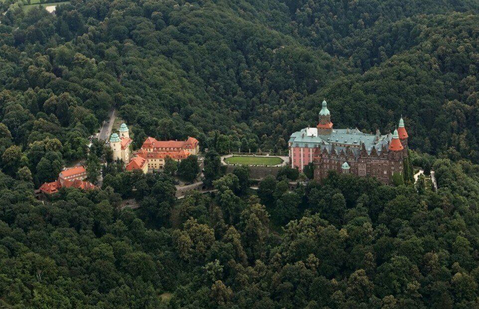Lot widokowy nad Zamkiem Książ dla 2-3 osób