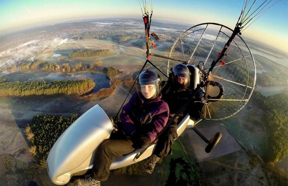 Lot motoparalotnią wraz z filmowaniem - Poznań