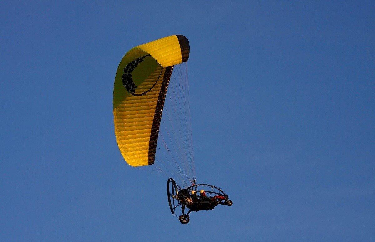 Lot motoparalotnią w tandemie - Zielona Góra