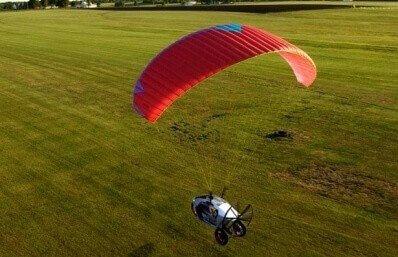 Motoparalotnią - loty w Zielonej Górze