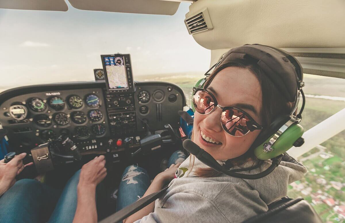 Nauka latania samolotem - Pierwsze kroki w chmurach