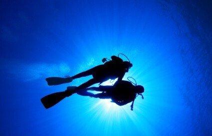 Lekcja nurkowania dla dzieci