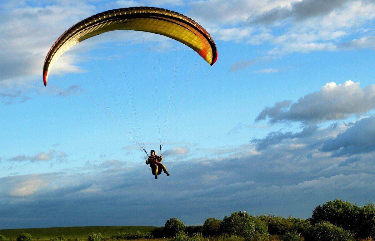 Paralotnia w tandemie- Zielona Góra