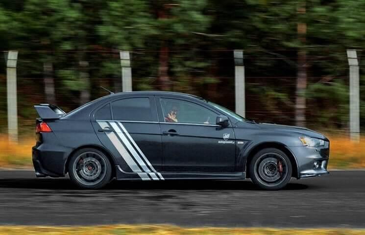 Mitsubishi Lancer Evo X - przejażdżka