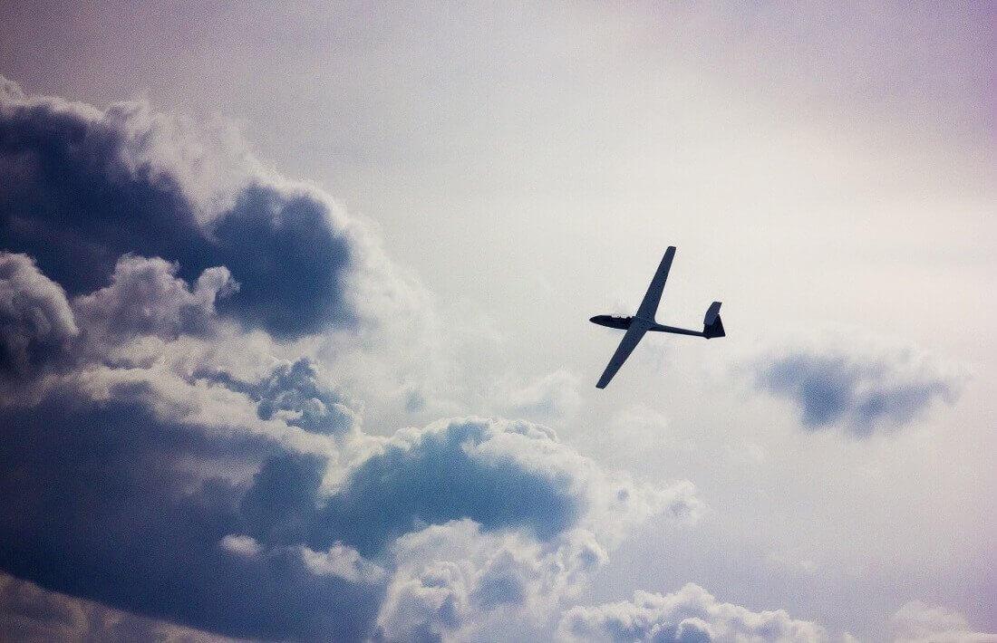 Lot szybowcem w okolicach zatoki Gdańskiej