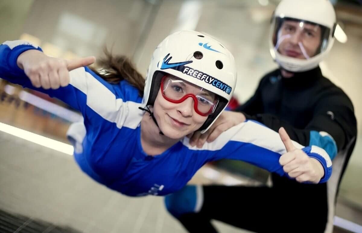 Latanie w Lesznie w tunelu aerodynamicznym