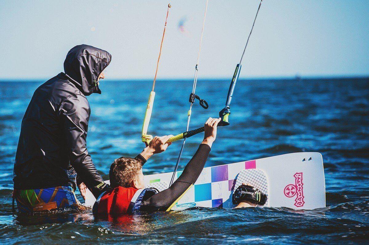 Nauka kitesurfingu - Hel