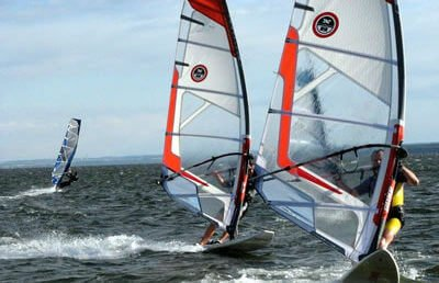 Windsurfing na Helu