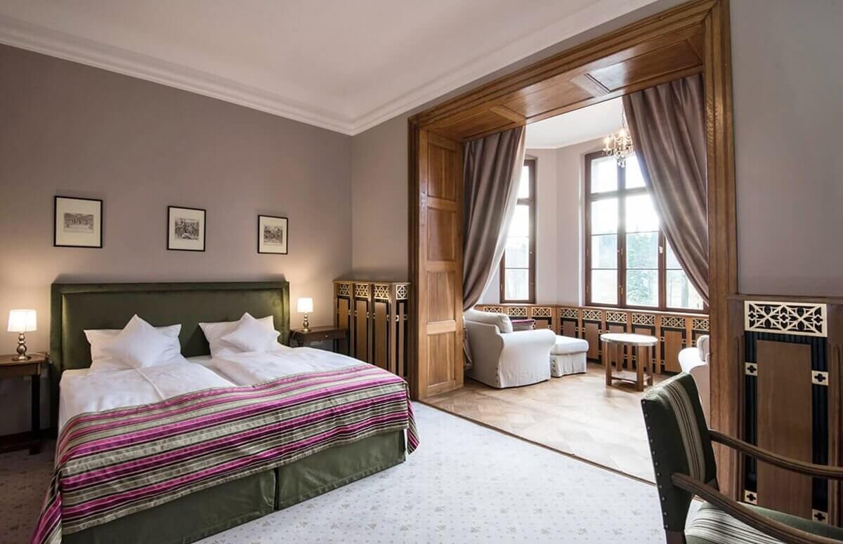 Luksusowy pokój dla dwojga w Zamku Karpniki