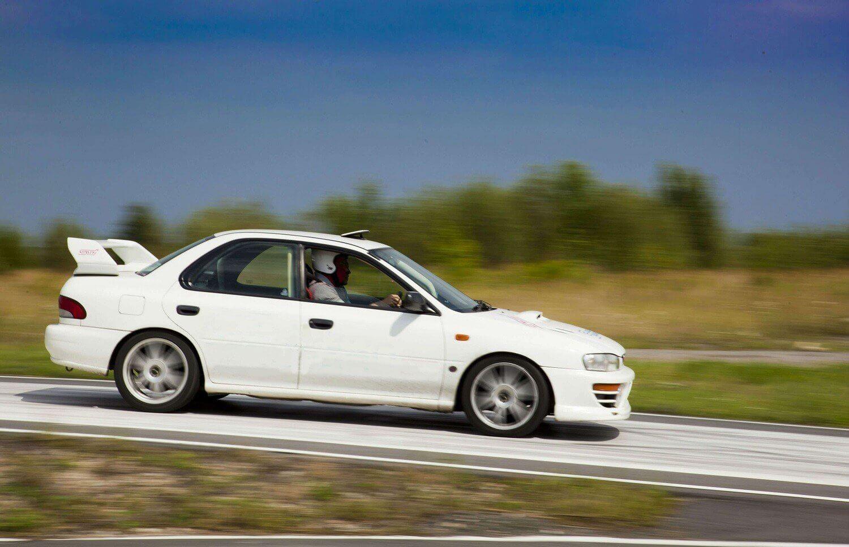 Jazda Subaru we Wrocławiu - 10 okrążeń