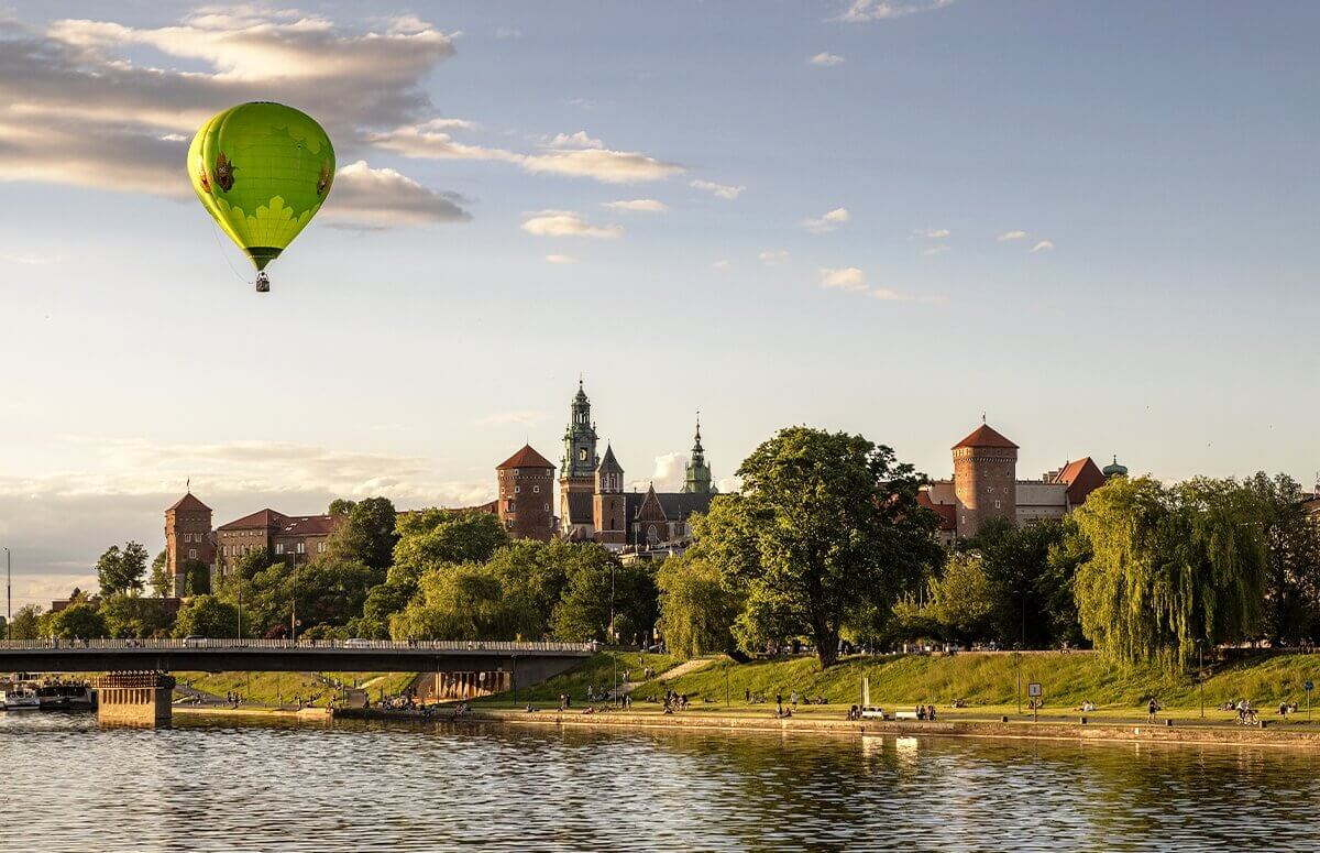 Lot nad Wawelem - Kraków