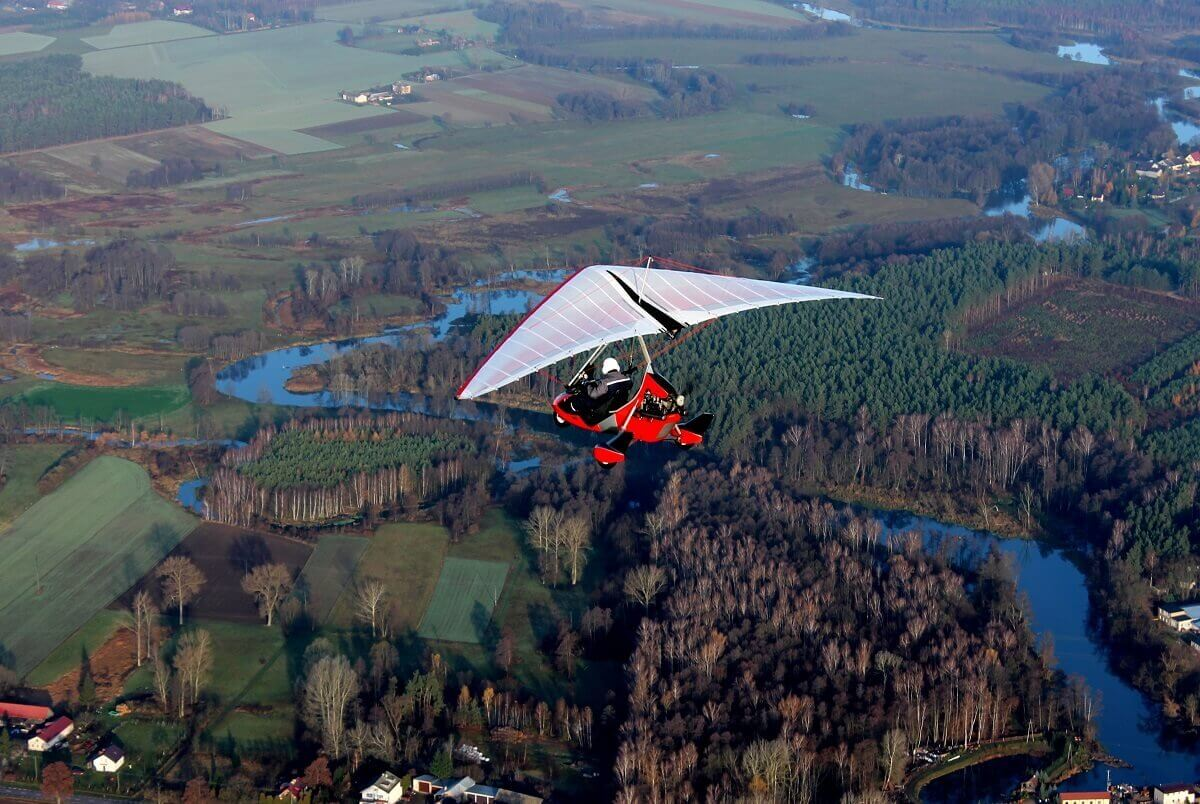 Lot motolotnią w Warszawie