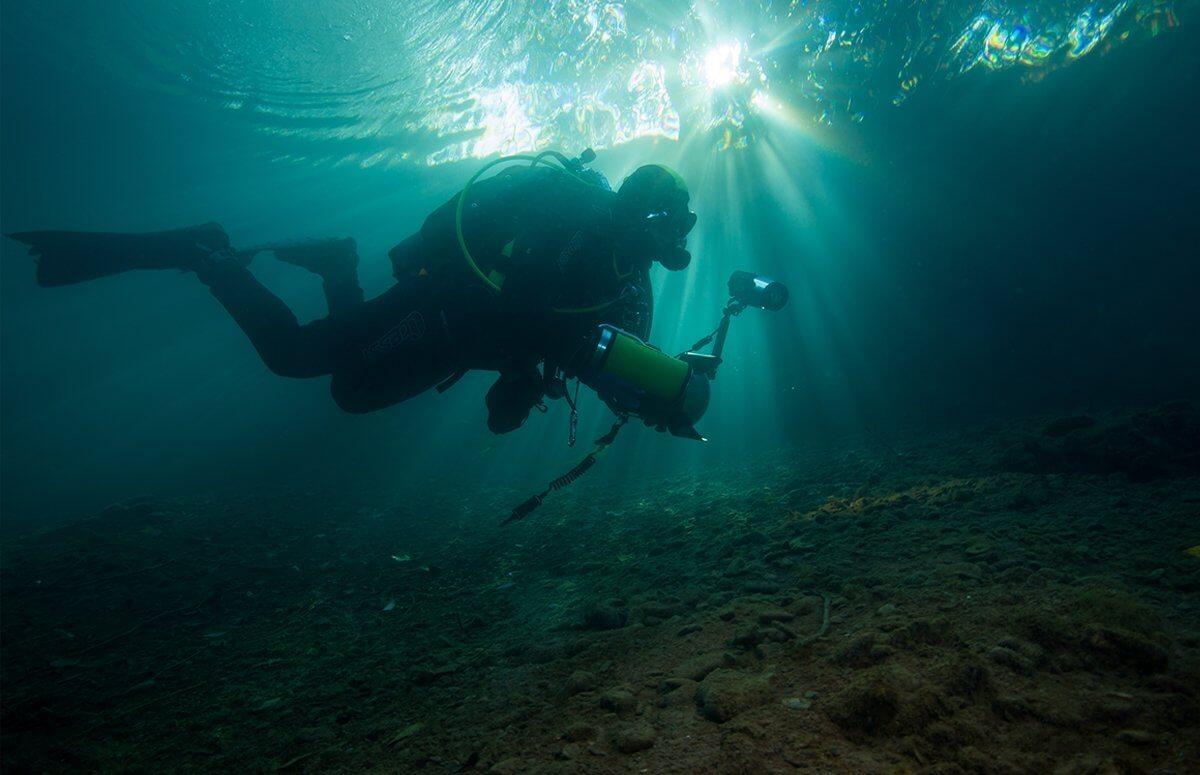 Nauka nurkowania w jeziorze - Poznań