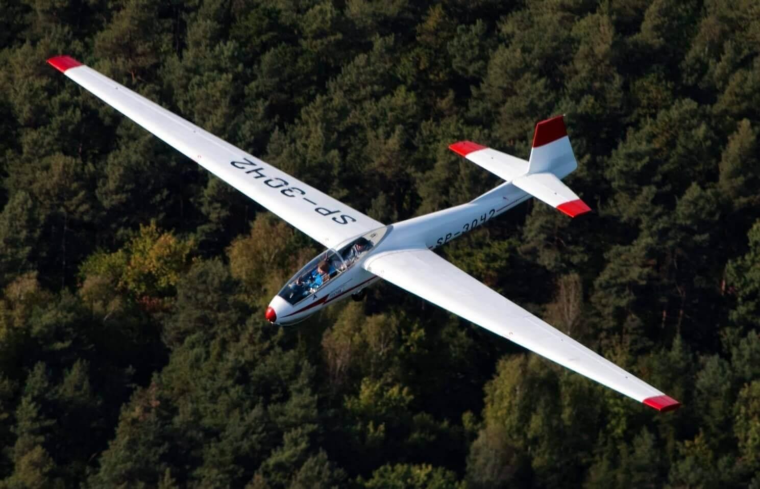 Lot szybowcem nad Warszawą