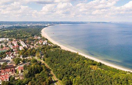 Lot widokowy nad Zatoką Gdańską