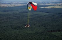 Lot tandemowy motoparalotnią nad Łodzią