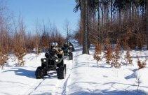 Jazda na śnieżnych quadach