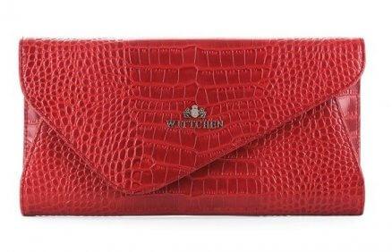 Damska torebka Croco (czerwona) | Wittchen