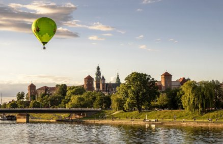 Lot balonem nad Krakowem