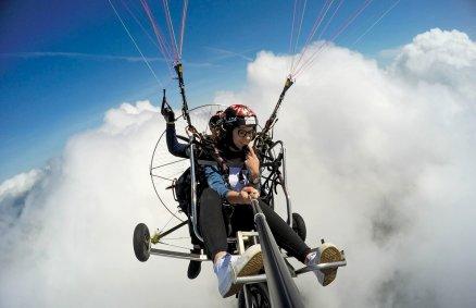Lot motoparalotnią w Beskidach
