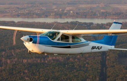 Lot nad Warszawą i okolicami dla 3 osób