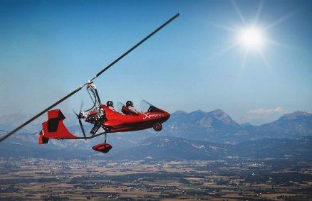 Lot pilotażowy wiatrakowcem - Kotlina Kłodzka