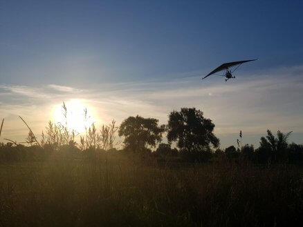 Lot motolotnią nad Wisłą - Mazowsze