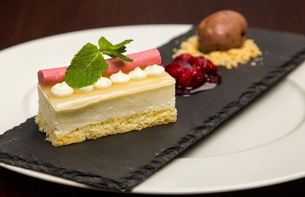 Menu degustacyjne - przykładowy deser